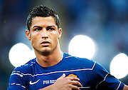 Cristiano Ronaldo of Manchester United warms up before the final of the UEFA football Champions League on May 27, 2009 at the Olympic Stadium in Rome.