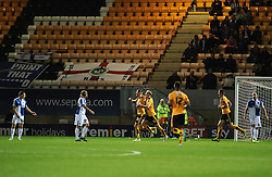 Cambridge United celebrate the opening goal - Mandatory byline: Neil Brookman/JMP - 07966 386802 - 30/10/2015 - FOOTBALL - The Abbey Stadium - Cambridge, England - Cambridge United v Bristol Rovers - Sky Bet League Two