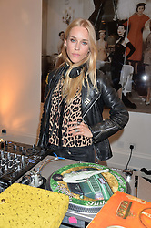 LADY MARY CHARTERIS at the launch of the 'Jasmine for Jaeger' fashion collection by Jasmine Guinness for fashion label Jaeger held at Fenwick's, Bond Street, London on 9th September 2015.