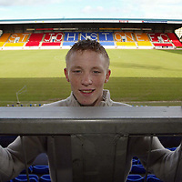 St Johnstone's Mark Baxter who has been awarded this months Bells Young Player of the Month award.  He was not allowed to pictured with the trophy as he is under 18. <br />see story by Gordon Bannerman Tel 01738 553978<br /><br />Picture by Graeme Hart<br />Perthshire Picture Agency<br />Tel: 01738 623350 / 07990 594431