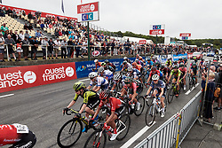 The final lap for the lead group during GP de Plouay - Lorient Agglomération Trophée WNT, a 128 km road race in Plouay, France on August 31, 2019. Photo by Sean Robinson/velofocus.com