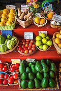Fruits and vegetables at a local stand, Kona Coast, The Big Island, Hawaii