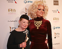 Costume designer Joan Bergin and Panti Bliss at the IFTA Film & Drama Awards (The Irish Film & Television Academy) at the Mansion House in Dublin, Ireland, Saturday 9th April 2016. Photographer: Doreen Kennedy