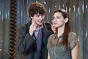 19/10/2011. London's last remaining music hall, Wilton's, presents a new production of 'Britannicus', Racine's study of Rome under the tyranny of Nero's rule. Directed by Irina Brown. Picture shows Alex Vlahos as Britannicus & Hara Yannas as Junia. Photo credit : Tony Nandi/LNP