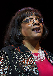 © Licensed to London News Pictures. 07/07/2016. LONDON, UK.  DIANE ABBOTT MP speaking at a rally in support of keeping Jeremy Corbyn remaining the Labour party leader at the Troxy in east London on 6th July 2016. The event was organised by Momentum, a group of Labour Party supporters who are campaigning for Jeremy Corbyn to remain as leader of the Labour Party, following the recent resignation of many shadow cabinet MP's and the growing likelihood of a Labour Party leadership challenge..  Photo credit: Vickie Flores/LNP