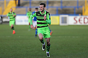 Forest Green Rovers Christian Doidge(9) during the FA Trophy match between Macclesfield Town and Forest Green Rovers at Moss Rose, Macclesfield, United Kingdom on 4 February 2017. Photo by Shane Healey.