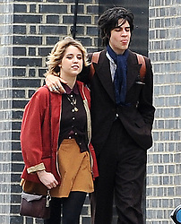 Peaches Geldof and boyfriend Thomas Cohen from S.C.U.M share a passionate kiss as they take a stroll in north London. Peaches supporting a love bite on her neck and purple nail polish also on Thomas's nails. 05/04/2011<br />BYLINE MUST READ : GOTCHAIMAGES.COM<br /><br />Copyright by © Gotcha Images Ltd. All rights reserved.<br />Usage of this image is conditional upon the acceptance <br />of Gotcha Images Ltd, terms and conditions available at<br />www.gotchaimages.com