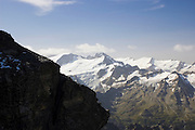Switzerland, Titlis Mountain, general view of the snow covered mountain August 2007