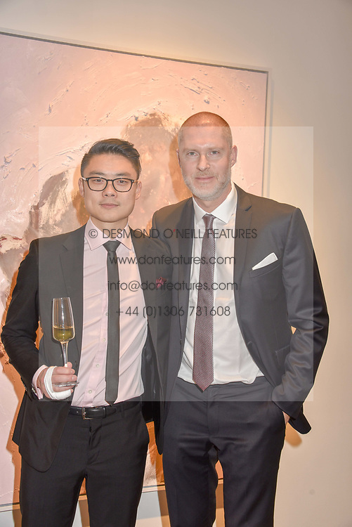 12 December 2019 - Henrik Uldalen and Jean-David Malat at a private view of Lethe by Henrik Uldalen at JD Malat Gallery. 30 Davies Street, London.<br /> <br /> Photo by Dominic O'Neill/Desmond O'Neill Features Ltd.  +44(0)1306 731608  www.donfeatures.com