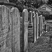 One of the old cemeteries in Shrewsbury, NJ.  This section is behind one of the old churches.  One nice thing about most cemeteries is that they truly are peaceful!  Some of these headstones go back to colonial days.