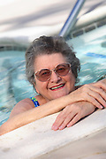Senior Woman Exercising at the Pool