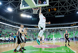 Gregor Hrovat #7 of KK Union Olimpija during basketball match between KK Union Olimpija (SLO) and BC VEF Riga (LAT) in 10th Round of Regular Season of EuroCup 2014/15, on December 17, 2014 in Arena Stozice, Ljubljana, Slovenia. Photo by Vid Ponikvar / Sportida