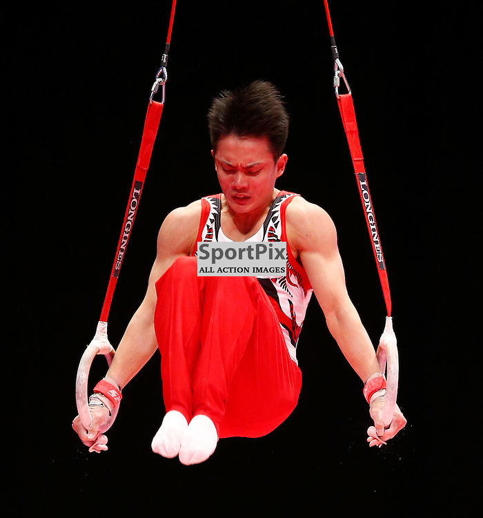 2015 Artistic Gymnastics World Championships being held in Glasgow from 23rd October to 1st November 2015.....Yusuke Tanaka (Japan) competing in the Still Rings competition..(c) STEPHEN LAWSON | SportPix.org.uk