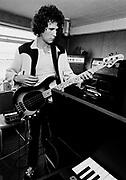 Dire Straits. John Illsley 1981 Wood Wharf studios