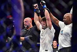 "November 3, 2018 - New York, New York, U.S. - Jason ""The Kid"" Knight (red gloves) vs. Jordan ""The Happy Warrior"" Rinaldi (blue gloves) during UFC 230 at Madison Square Garden. (Credit Image: © Jason Silva via ZUMA Wire)"