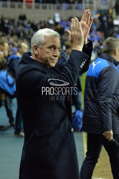 Crystal Palace Manager Alan Pardew during the The FA Cup Quarter Final match between Reading and Crystal Palace at the Madejski Stadium, Reading, England on 11 March 2016. Photo by Mark Davies.