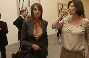 Tracey Emin and Sophie Leris, Cy Twombly at the new Gagosian Gallery, Britannia St. 27 May 2004. ONE TIME USE ONLY - DO NOT ARCHIVE  © Copyright Photograph by Dafydd Jones 66 Stockwell Park Rd. London SW9 0DA Tel 020 7733 0108 www.dafjones.com