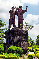 Bali, Tabanan. A patriotic monument in memory of the freedom fighters who gave their life for Indonesia's independence. Tababan city.
