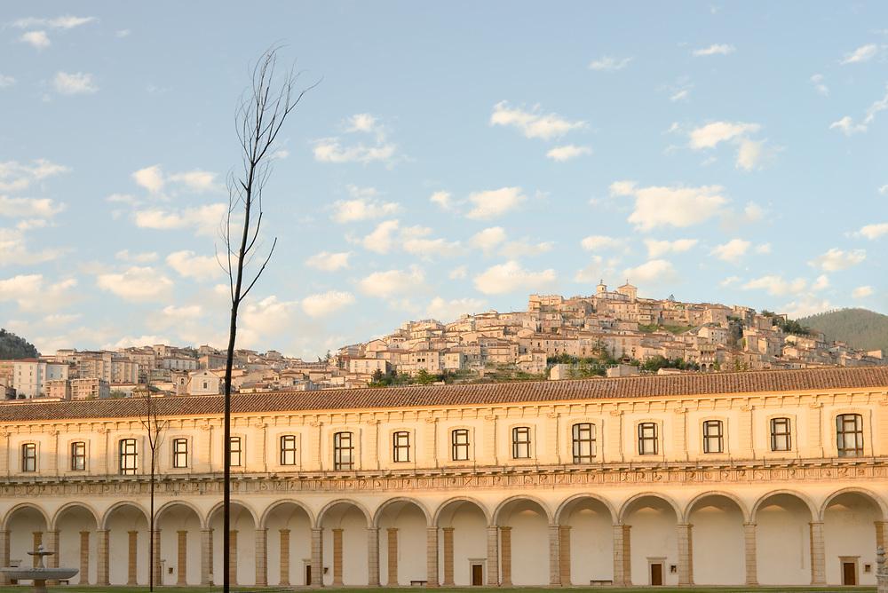 ITALY, Campania, Padula<br /> La Certosa di San Lorenzo with old town of Padula in background.<br /> &copy; 2005 David Madison