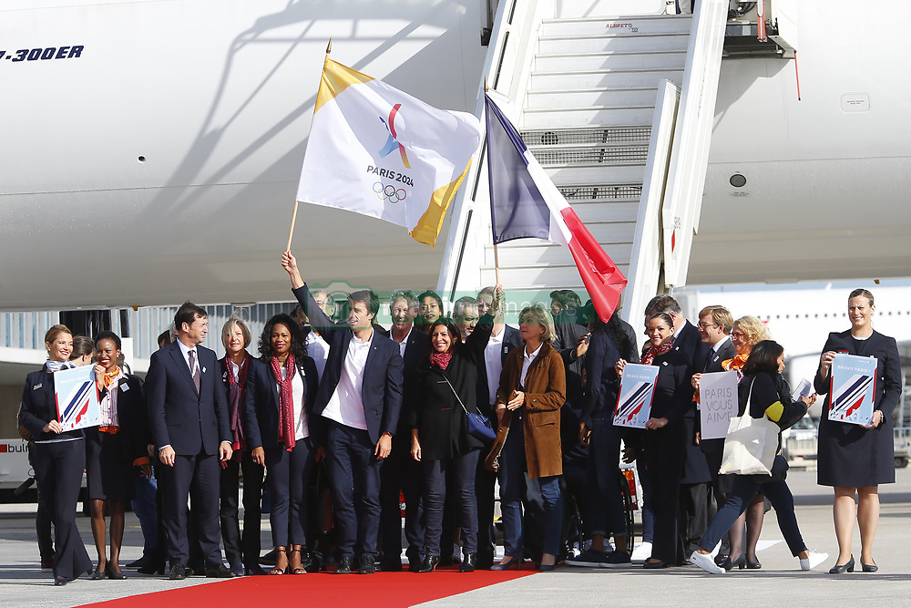 September 15, 2017 - Paris, France, France - Tony Estanguet - Anne Hidalgo - Laura Flessel - Valerie Pecresse - Guy Drut (Credit Image: © Panoramic via ZUMA Press)