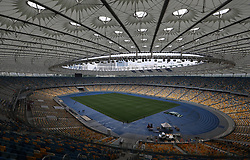 May 14, 2018 - Kiev, Ukraine - General view of the Olympic Stadium in Kiev. Ukraine, Monday, May 14, 2018 May 26, 2018 in Kiev will be the final of the Champions League between Real Madrid and Liverpool. (Credit Image: © Danil Shamkin/NurPhoto via ZUMA Press)