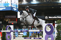 20.11.2015, Schleyer Halle, Stuttgart, GER, FEI World Cup, Stuttgart German Masters, Preis der Raumpflege AG, Internationale Springpruefung, im Bild Leopold von Asten (Niederlande) auf VDL Groep Quinthago Z // during price of Raumpflege AG, International Jumping Competition of FEI World Cup Stuttgart German Masters at the Schleyer Halle in Stuttgart, Germany on 2015/11/20. EXPA Pictures &copy; 2015, PhotoCredit: EXPA/ Eibner-Pressefoto/ Fudisch<br /> <br /> *****ATTENTION - OUT of GER*****