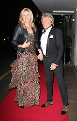 PENNY STEWART and ROD STEWART arrives at the WellChild charity dinner, The Savoy Hotel, The Strand,, London, United Kingdom. Thursday, 20th March 2014. Picture by i-Images