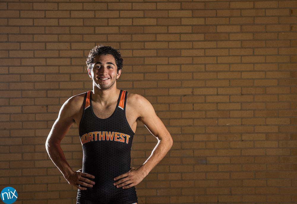 Northwest Cabarrus wrestler Damian Bertino.