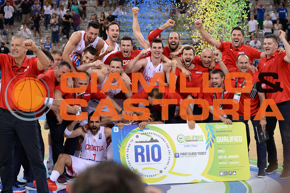 DESCRIZIONE: Torino FIBA Olympic Qualifying Tournament Finale Italia - Croazia<br /> GIOCATORE: CROATIA CROAZIA<br /> CATEGORIA: Nazionale Italiana Italia Maschile Senior<br /> GARA: FIBA Olympic Qualifying Tournament Finale Italia - Croazia<br /> DATA: 09/07/2016<br /> AUTORE: Agenzia Ciamillo-Castoria
