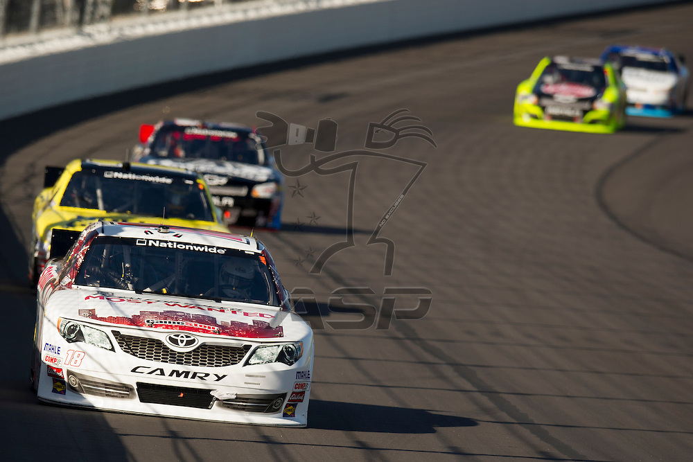 Kansas City, KS - OCT 20, 2012:  The NASCAR Nationwide Series teams take to the track for the Kansas Lottery 300 at Kansas Speedway in Kansas City, KS.