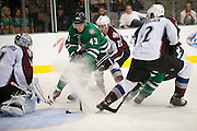 DALLAS, TX - SEPTEMBER 26:  Valeri Nichushkin #43 of the Dallas Stars scores during the third period against the Colorado Avalanche in an NHL preseason game on September 26, 2013 at the American Airlines Center in Dallas, Texas.  (Photo by Cooper Neill/Getty Images) *** Local Caption *** Valeri Nichushkin