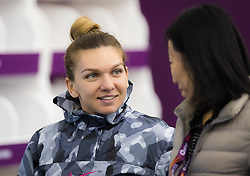 February 13, 2019 - Doha, QATAR - Simona Halep of Romania talks to the media after winning her second-round match at the 2019 Qatar Total Open WTA Premier tennis tournament (Credit Image: © AFP7 via ZUMA Wire)