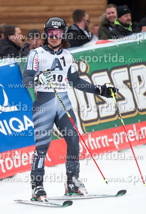 28.02.2016, Hannes Trinkl Rennstrecke, Hinterstoder, AUT, FIS Weltcup Ski Alpin, Hinterstoder, Riesenslalom, Herren, 2. Lauf, im Bild Marcus Sandell (FIN) // Marcus Sandell of Finland reacts after his 2nd run of men's Giant Slalom of Hinterstoder FIS Ski Alpine World Cup at the Hannes Trinkl Rennstrecke in Hinterstoder, Austria on 2016/02/28. EXPA Pictures © 2016, PhotoCredit: EXPA/ Johann Groder