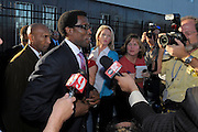 "Feb. 1, 2008; Ocala, Fla.: Actor Wesely Snipes leaves the Federal Court building in Ocala, Florida. Snipes, the star of the ""Blade"" films and ""White Men Can't Jump,"" was on trial with two tax protesters in one of the biggest criminal cases in IRS history. ..© 2008 Scott A. Miller"