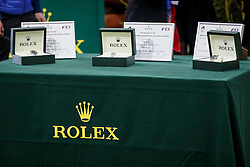 Prizes donated by Rolex for the breeders of the Year <br /> WBSFH Prizegiving<br /> Genève 2015<br /> © Hippo Foto - Dirk Caremans<br /> 12/12/15