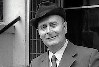 Alderman Tom Newell, member, Craigavon Council, N Ireland, candidate, N Ireland Labour Party, N Ireland Assembly Election,  June 1973. 197306000479a<br /> <br /> Copyright Image from Victor Patterson, 54 Dorchester Park, Belfast, UK, BT9 6RJ<br /> <br /> t1: +44 28 9066 1296 (from Rep of Ireland 048 9066 1296)<br /> t2: +44 28 9002 2446 (from Rep of Ireland 048 9002 2446)<br /> m: +44 7802 353836<br /> <br /> e1: victorpatterson@me.com<br /> e2: victorpatterson@gmail.com<br /> <br /> The use of my copyright images is subject to my Terms & Conditions.<br /> <br /> It is IMPORTANT that you familiarise yourself with them. They are available on my website at www.victorpatterson.com.<br /> <br /> None of my copyright images may be used on a website or on television unless they are visibly watermarked, i.e. © Victor Patterson within the body of the visible image. Also the image metadata of images used on the Internet must not be removed. <br /> <br /> Copyright acknowledgment of my images used in print is a condition of use.<br /> <br /> Failure to observe the above conditions will incur a penalty of at least 100% of the agreed fee. <br /> <br /> Web use (maximum size - 400 kb) is extra at currently recommended NUJ rates.