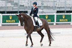 Sophie Wells riding Valerius in the Grade IV Individual Tests at the 2014 World Equestrian Games, Caen, Normandy, France