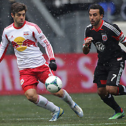 Juninho, New York Red Bulls, (left), challenged by Dwayne De Rosario, D.C. United,  in action during the New York Red Bulls V D.C. United, Major League Soccer regular season match at Red Bull Arena, Harrison, New Jersey. USA. 16th March 2013. Photo Tim Clayton