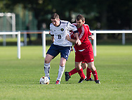 Bank Street Athletic (red) v Occidental (white) - Dundee Saturday Morning Football League at University Grounds, Riverside<br /> <br /> <br />  - &copy; David Young - www.davidyoungphoto.co.uk - email: davidyoungphoto@gmail.com
