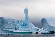 Antarctica, Antarctic Peninsula, Lemaire Channel, Icebergs near Pleneau Island.