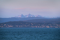 Twin Sister Range from Bellingham Bay