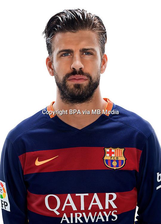 Spain - Liga BBVA 2015-2016 / <br /> ( Fc Barcelona ) - <br /> Gerard Pique