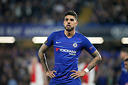 Chelsea FC defender Emerson Palmieri (33) during the Europa League quarter-final, leg 2 of 2 match between Chelsea and Slavia Prague at Stamford Bridge, London, England on 18 April 2019.