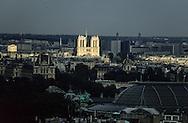 France. Paris. Elevated view.  notre dame de  and Paris cityscape, Paris. view from the Arc de Triomphe