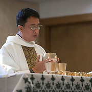 Father Nestor, Deacon Ron Haunns and Deacon Joe Vivona (glasses)