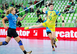 Anne Mueller of Leipzig during handball match between RK Krim Mercator (SLO) and HC Leipzig (GER) in 6th Round of Women's EHF Champions League 2014/15, on November 21, 2014 in Arena Stozice, Ljubljana, Slovenia. Photo by Vid Ponikvar / Sportida