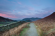 Pink skies on the Yewthwaite bridleway