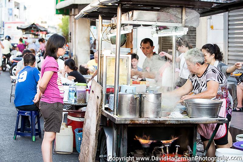hawker stalls Chulia Street, evenings