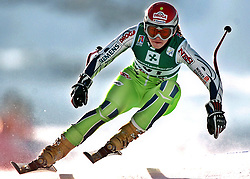 SKI ALPIN: Alpine Ski-WM 2005, Damen, Abfahrt, Training, Bormio, 30.01.2005<br /> Tina MAZE (SLO)<br /> Photo by Pixathlon / Sportida Photo Agency