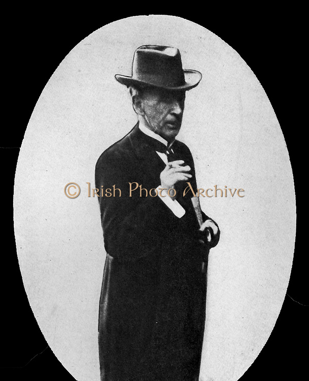 Lord Morley, Lord President of the Council.  Lord Morley and Mr Burns were opposed to Great Britain's entering the war and resigned their places in the British Cabinet on August 5, 1914.